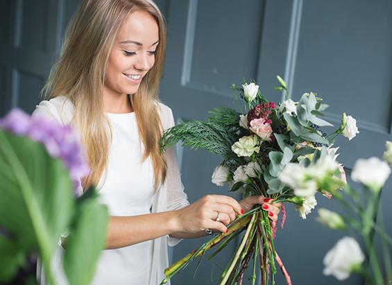 Ung florist binder bukett