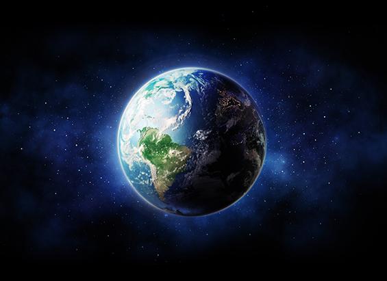 Jorden i rymden.