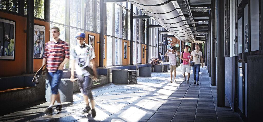 Korridor på Viskastrandsgymnasiet
